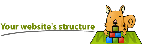 "Title: ""Your website's structure"""