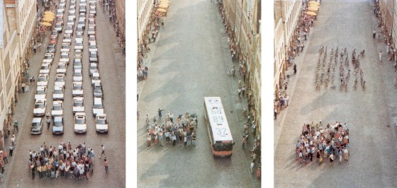 Muenster's car-bus-bicycle campaign