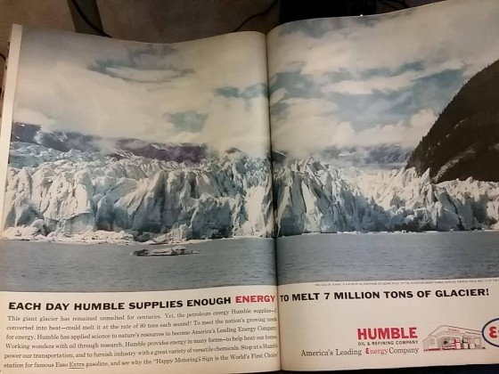 Ad: Melting glaciers with oil