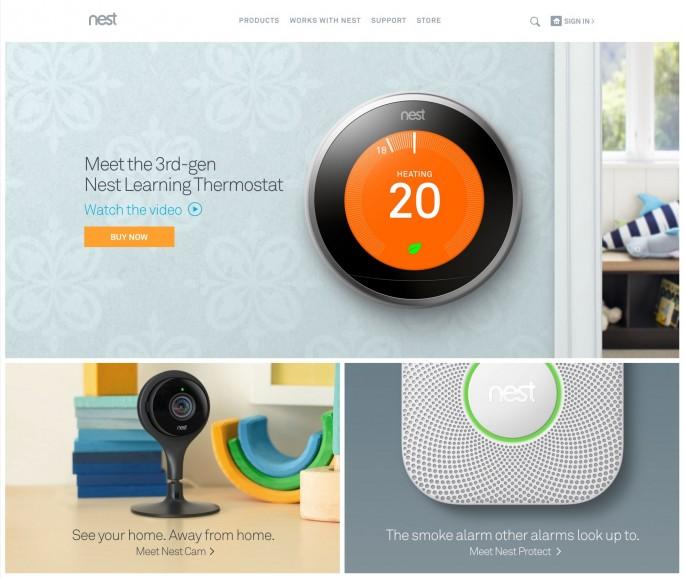 Nest homepage