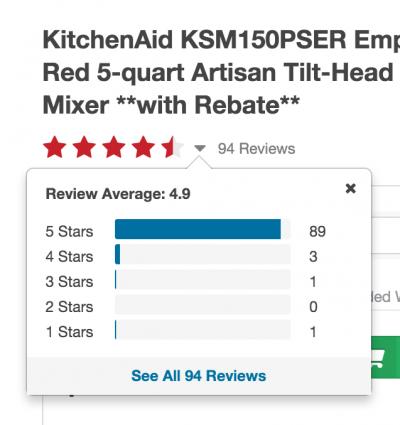 o.co shows details of reviews