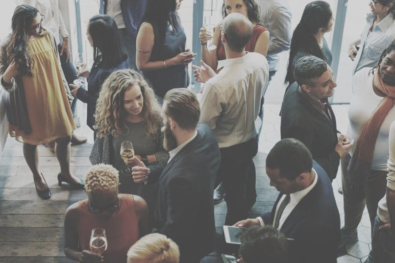 People at a business networking event