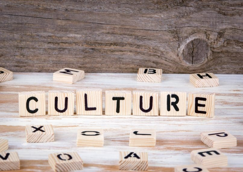 "The word ""culture"" in wooden letters"