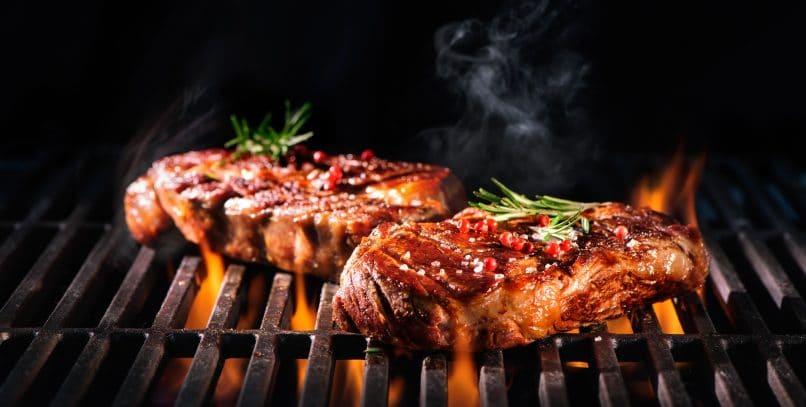 Sizzling steaks