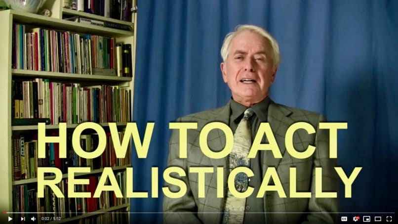 Thumbnail of the video about how to act realistically.
